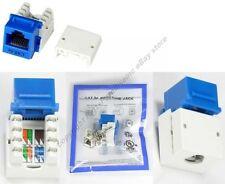 Cat5e RJ45 Keystone Network/Ethernet 10/100/1000 Jack/Port 110Punch Down{BLUE