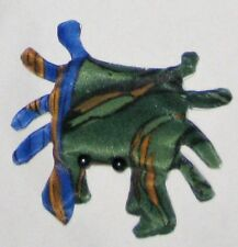 "Plush Green Blue 3 1/2"" Bean Bag Sandbag Posable Crab Lobster FISH Paperweight"