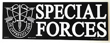 SPECIAL FORCES DE OPPRESSO LIBER Military Veteran Bumper Sticker BM0011 EE