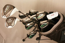 NEW CUSTOM MADE COMPLETE GOLF CLUBS 12 PC SET TAYLOR FIT DRIVER IRONS PUTTER BAG