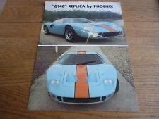 Pheonix GT 40 REPLICA opuscolo JM