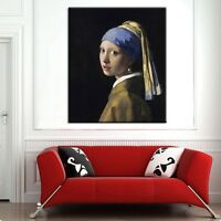 TIME4ART Jan VERMEER Girl with a Pearl Earring PRINT GICLEE CANVAS ART ALL SIZES