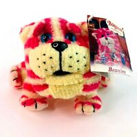 """Vintage 1999 Bagpuss Cat Small 5"""" Beanies Soft Plush Toy Tagged VGC"""