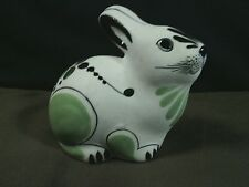 Adorable Mexican Vicman Folk Art Pottery Hand Painted Rabbit Sculpture,Mexico