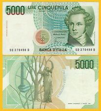 Italy 5000 Lire p-111c 1985 XF Banknote
