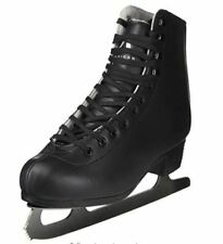 American Athletic Shoe Men's Leather Lined Figure Skates, Black, 5