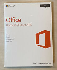 New/Sealed Microsoft Office Home & Student 2016 Product Key Card for 1 Mac