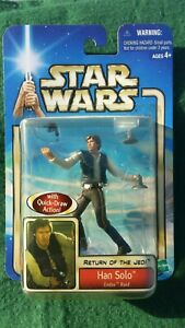 Hasbro STAR WARS HAN SOLO ROTJ Endor Raid Figure 2002 Vintage - NEW & Sealed