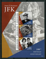 Young Island Gren St Vincent 2017 MNH JFK John F Kennedy 100th 3v M/S I Stamps