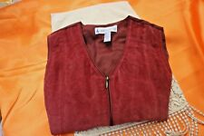 Women's Leather Clothing Vest By Marsh Landing Size M Ladies NICE Zipper front C