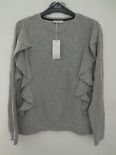 BNWT LADIES M&S PER UNA RANGE LONG SLEEVED GREY MIX JUMPER/TOP SIZE 18