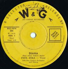 Paul Anka ORIG OZ 45 Diana VG+ '58 W&G WGSPN496 Teen Idol Pop Rock