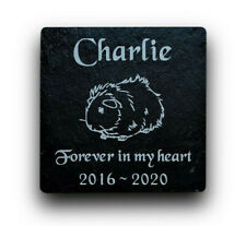 Personalised Engraved Slate Pet Memorial Grave Marker Plaque for Pet Guinea Pig