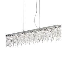 Lampadario moderno in cristallo trasparente a 7 luci collezione Giada