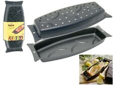 2pc NORDICWARE INDOOR OUTDOOR STEAM GRILLING OVEN FISH BOAT PAN bbq steamer H35