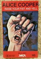 Vintage 1987 Cassette Tape Alice Cooper Raise Your Fist And Yell MCA Records