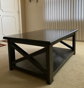 Custom Farmhouse Coffee Table - Hand Crafted - Genuine Hardwood - Made In USA
