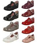 Filles Rose/Rouge/Noir/Cuir Bordeaux Barre En T Start Rite Chaussures Pixie