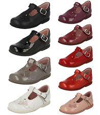 niña rosa / rojo / Negro / Piel Borgoña barra t Start Rite Zapatos Duende