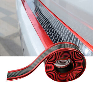 1m Carbon Fiber Car Door Plate Sill Scuff Cover Accessories Anti Scratch Sticker