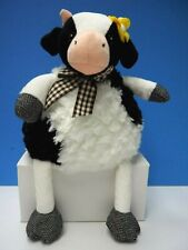 "14"" Plush Pier 1 Imports Black and White Cow ""Isabelle"""