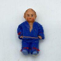 "Vintage EDI Germany 3"" Plastic Dollhouse Doll"