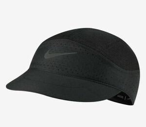 Nike Aerobill Tailwind Featherlight Mesh DriFit Running Cap CQ9366-010 Black NWT