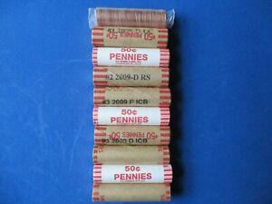 Bicentennial Lincoln Cents 2009/2010 P&D Mint Rolls