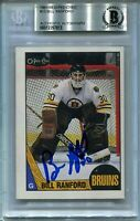 OILERS BILL RANFORD signed autographed 1987-88 OPC ROOKIE CARD RC BECKETT (BAS)