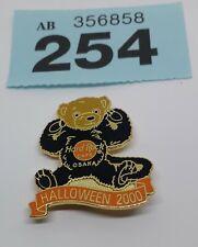 (254) Osaka 🇯🇵 Halloween 2000 Teddy Bear Black Cat Hard Rock Cafe Pin