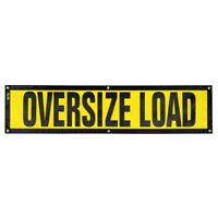 """Oversize Warning Products EZ Hook Escort Oversize Load Sign 14/"""" x 60/"""""""