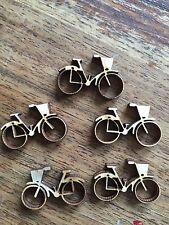 10 x Wooden Mini BICYCLE EMBELLISHMENT Craft Card Scrapbook Art