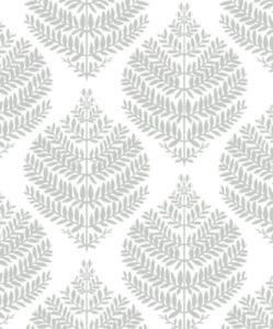 """RoomMates Hygge Fern Damask Peel & Stick Wallpaper Roll 20.5"""" x 16.5', 28.18 SF"""