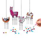 Diamond Painting DIY Wind Chimes for Kids (4pcs) Cat, Llama, Panda, & Unicorn -