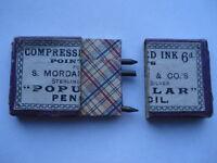 C1900 VINTAGE S.MORDAN&Cos COMPRESSED INK 6D POINTS PENCIL BOX