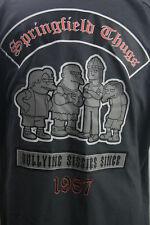 Vintage Red Kap Mens Button Shirt 2XL gray Simpsons Nelson Tug Springfield Bully