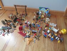 """Huge Lot of """"Playmobile"""" People, Animals and Pieces, Plus Carrying Case!"""