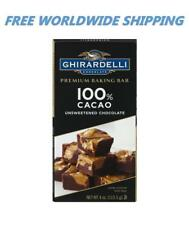 Ghirardelli Premium Baking Bar 100% Cacao Unsweetened Chocolate FREE WORLD SHIP