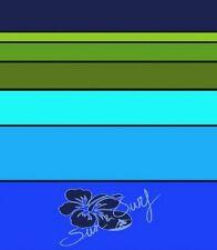 Serviette de plage Drap de bain 2 places Fleurs hibiscus surf bleue verte XXL