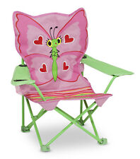 Child seat folding camping kids butterfly pink saddle