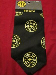 "Gold's Gym 22"" Square Black Yellow Dog Bandana"