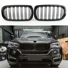 Front Kidney Grills Grille For BMW F15 F16 X5 X6 2014-2017 Gloss Dual Slats