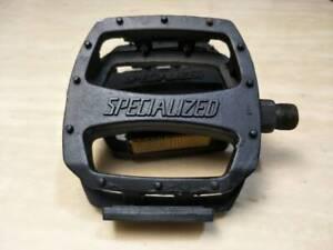 NOS SPECIALIZED 9/16 spindle Platform Pedal Black BMX MTB old school 4relectors