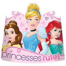 DISNEY PRINCESS Dream Big PAPER TIARAS (8) Birthday Party Supplies Favors Hats