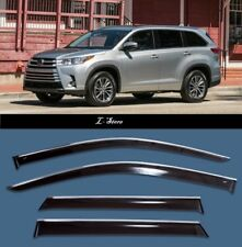 Chrome Trim  Window Visors Guard Vent Deflectors for Toyota Highlander 3 2013-18