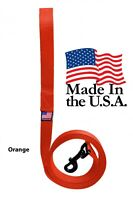 Dog Leash Lead Long Obedience Recall Training Tracker ORANGE Made in the USA