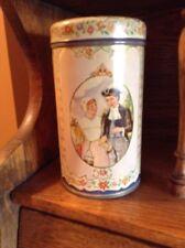 "Vintage Albert Heijn Dutch Scene Tin Small Cannister 6"""