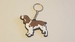 Brown and White Springer Spaniel Dog Key ring Xmas Gift / Present key ring