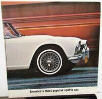 1961-1962 Triumph Dealer Sales Brochure Folder TR-4 Features & Specifications