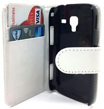White Leather Wallet Pouch Flip Case Cover For Samsung Galaxy Ace 2 GT-i8160